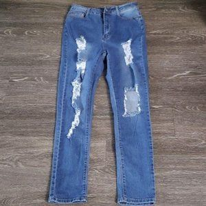 Destroyed Ripped Jeans sz 1x